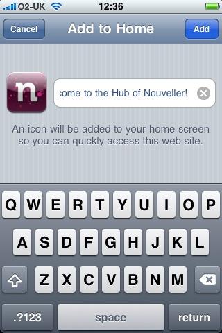 iPhone adding bookmark