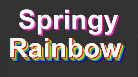 Springy rainbow CSS text — Nouveller